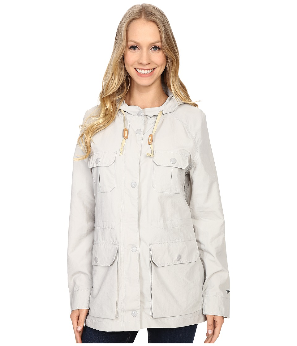 Woolrich - Lightweight Mountain Parka (Light Gray) Women's Jacket