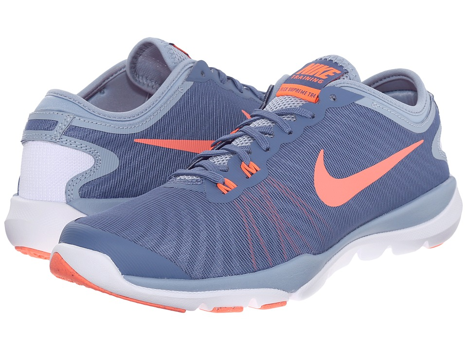 Nike - Flex Supreme TR4 (Ocean Fog/Blue Grey/Porpoise/Bright Mango) Women's Cross Training Shoes