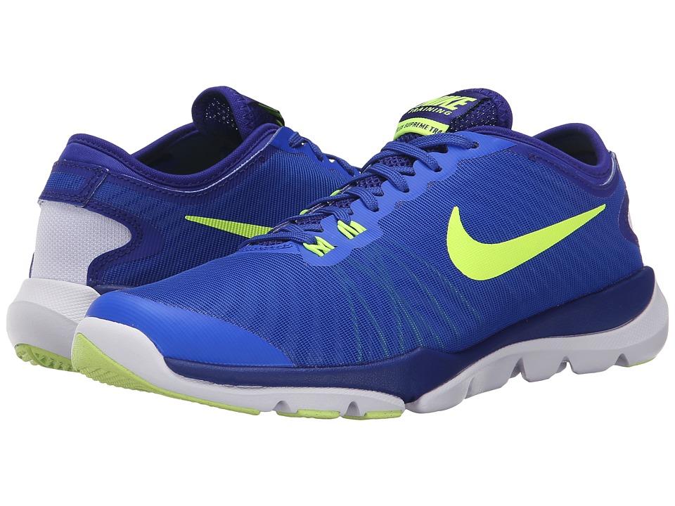 Nike - Flex Supreme TR4 (Racer Blue/Concord/Blue Tint/Volt) Women's Cross Training Shoes