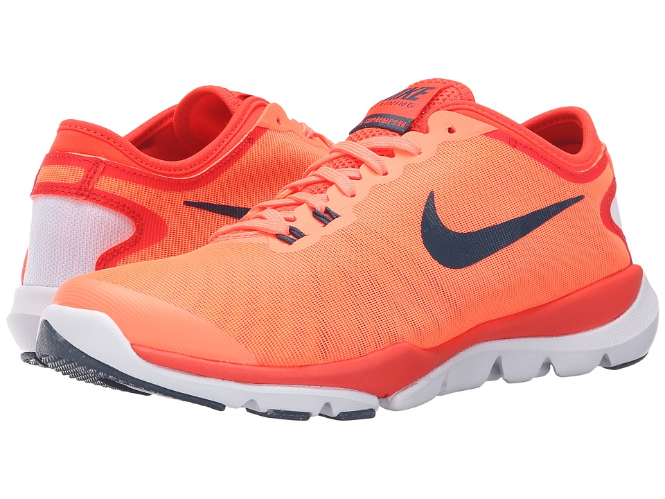 Nike - Flex Supreme TR4 (Bright Mango/Bright Crimson/White/Squadron Blue) Women's Cross Training Shoes