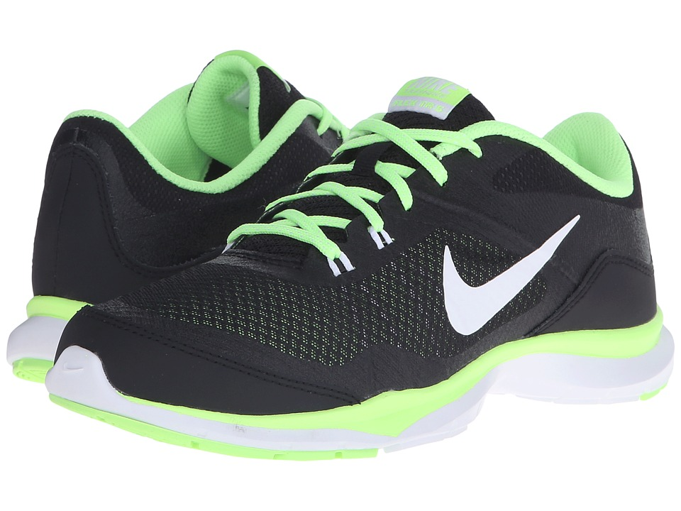 Nike - Flex Trainer 5 (Black/Ghost Green/White) Women's Cross Training Shoes