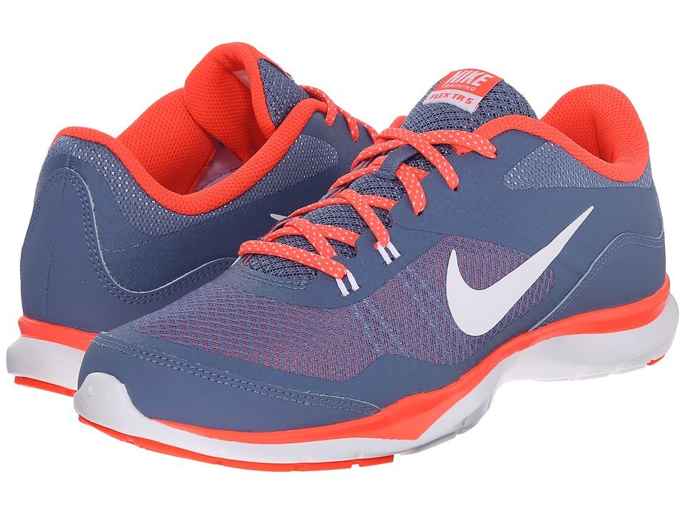 Nike - Flex Trainer 5 (Ocean Fog/Bright Crimson/White) Women's Cross Training Shoes