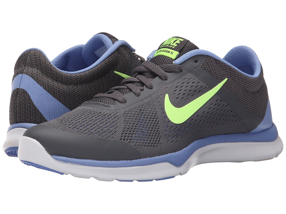 Nike - In-Season TR 5 (Dark Grey/Chalk Blue/Anthracite/Ghost Green) Women's Cross Training Shoes