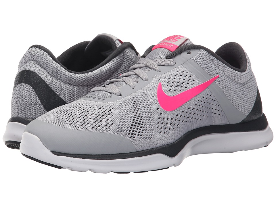 Nike - In-Season TR 5 (Wolf Grey/Anthracite/Stealth/Hyper Pink) Women's Cross Training Shoes