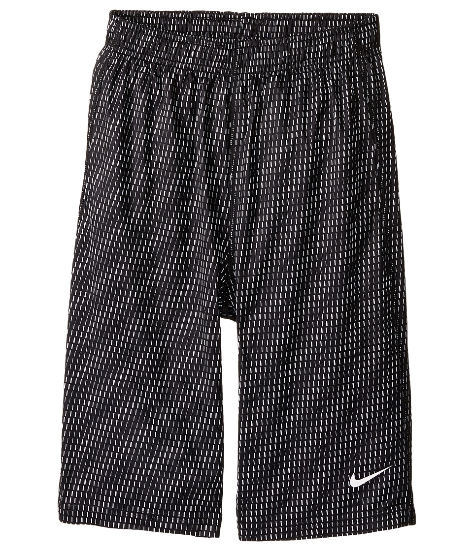 Nike Kids - Fly Aop 3Mo Shorts (Little Kids/Big Kids) (Black/White/White) Boy's Shorts