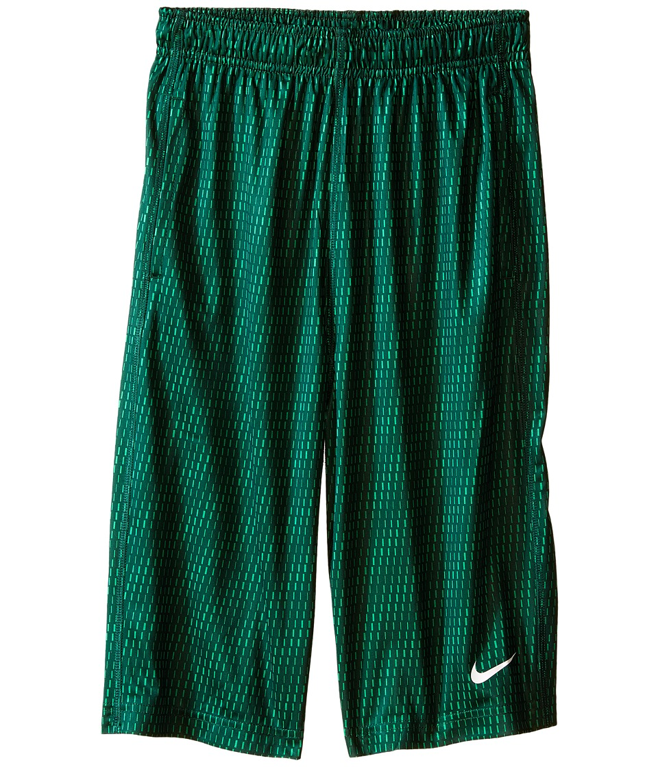Nike Kids - Fly Aop 3Mo Shorts (Little Kids/Big Kids) (Pine Green/Pine Green/White) Boy's Shorts