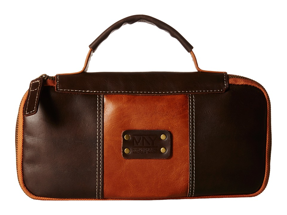 Marc New York by Andrew Marc - Genuine Leather Express Travel Kit (Brown/Cognac) Travel Pouch