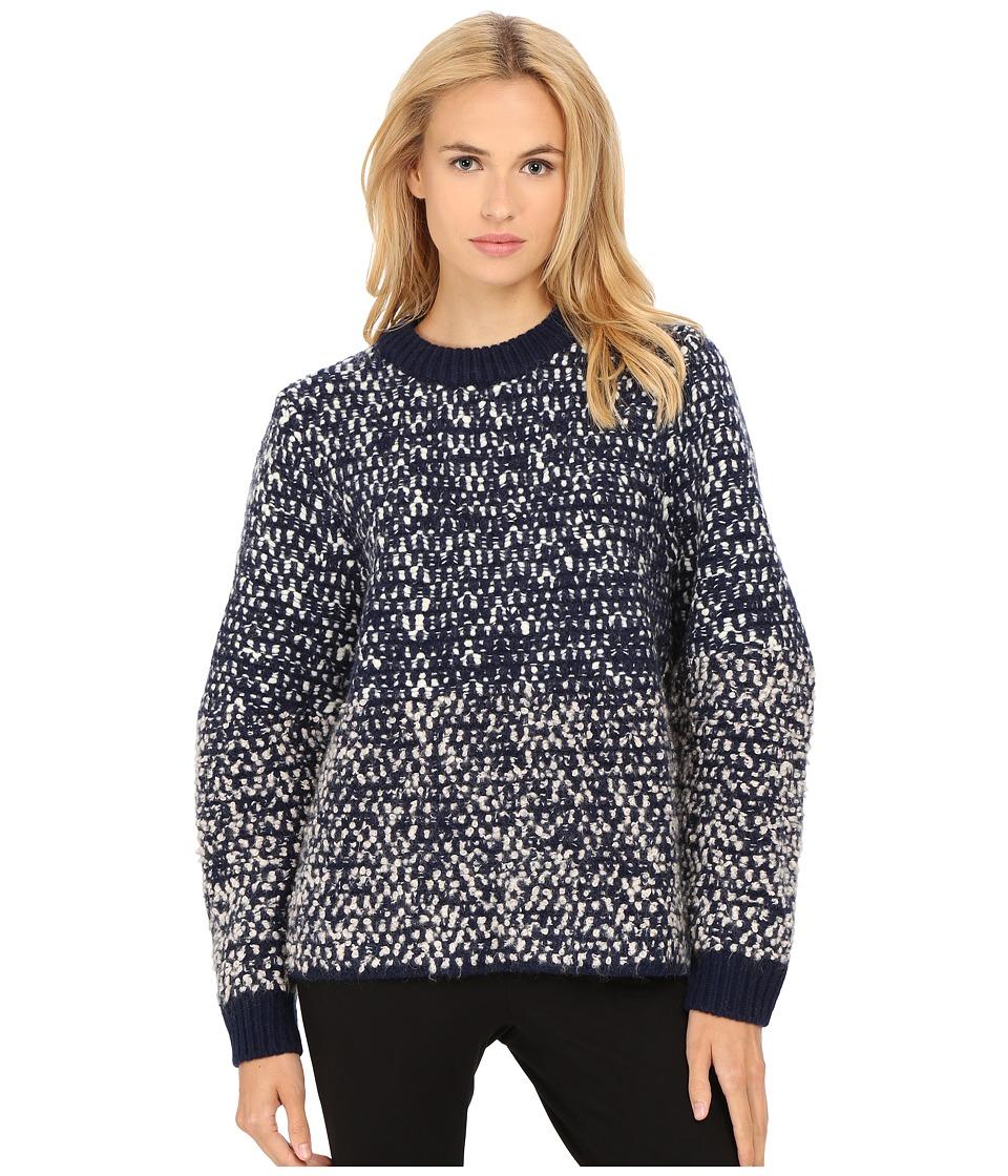 See by Chloe - Bubble Knit Ombre Sweater (Navy) Women's Sweater