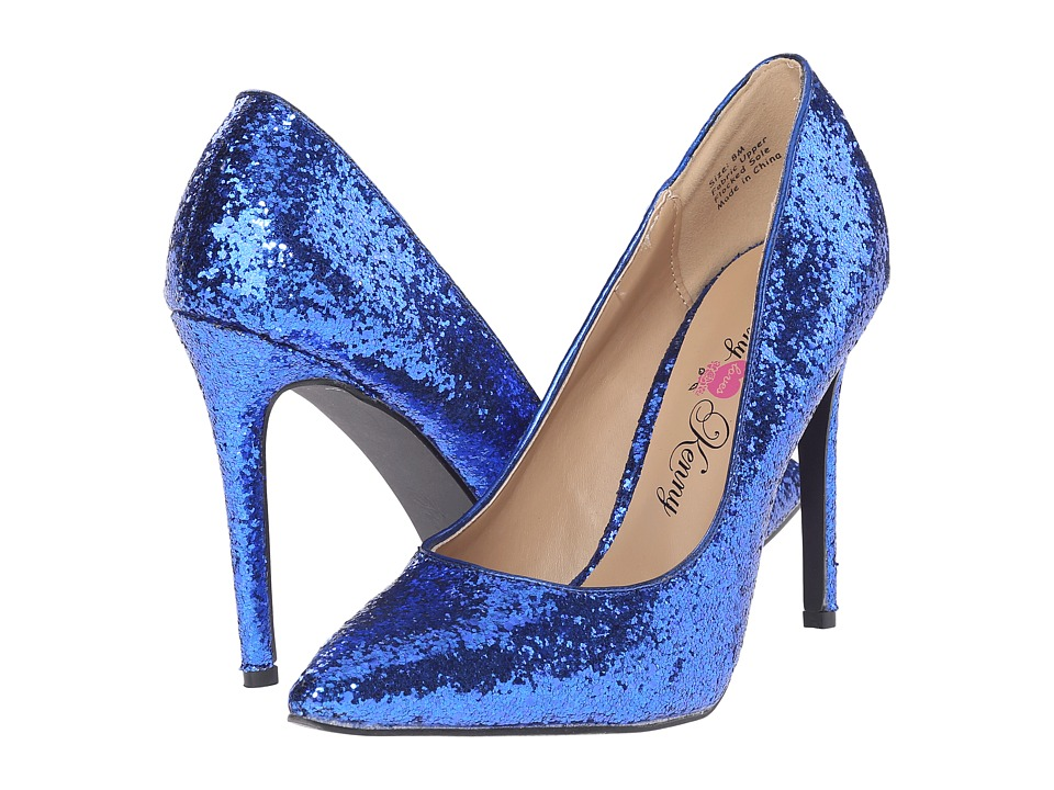 Penny Loves Kenny - Opus-Glitter (Blue Glitter Material) High Heels