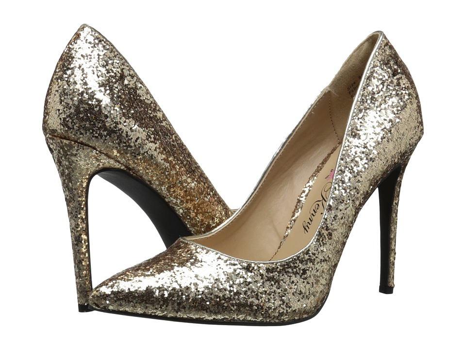 Penny Loves Kenny - Opus-Glitter (Gold Glitter Material) High Heels