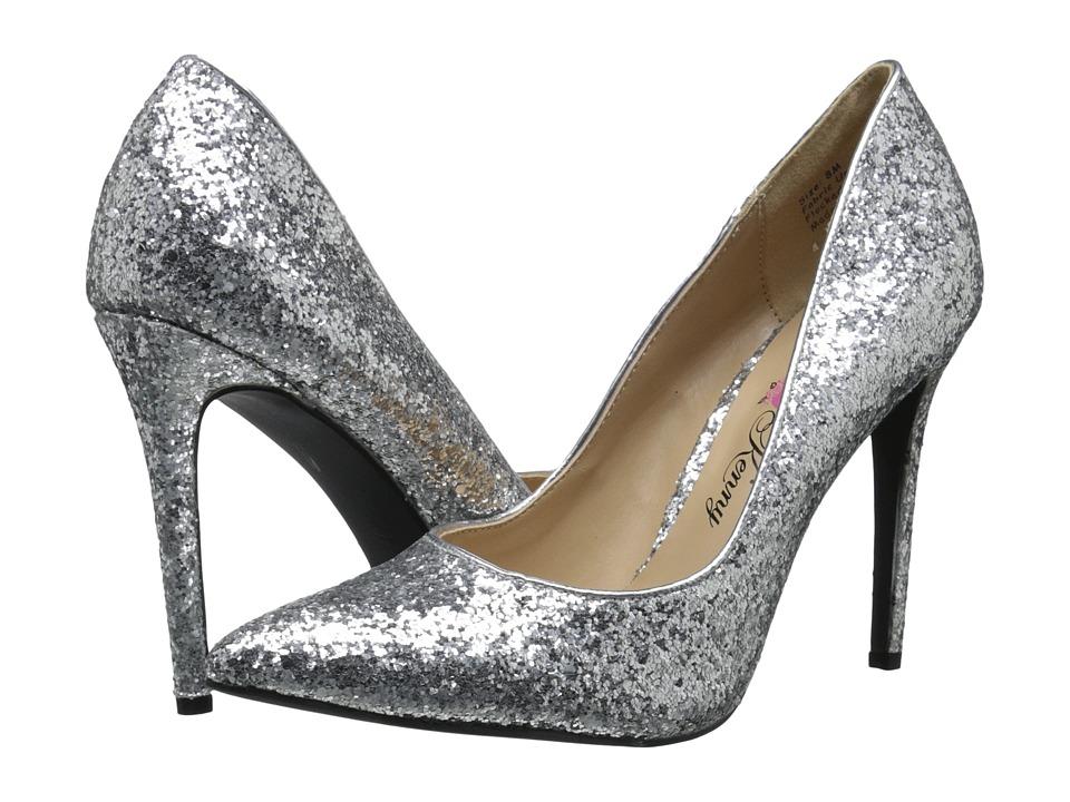 Penny Loves Kenny - Opus-Glitter (Silver Glitter Material) High Heels