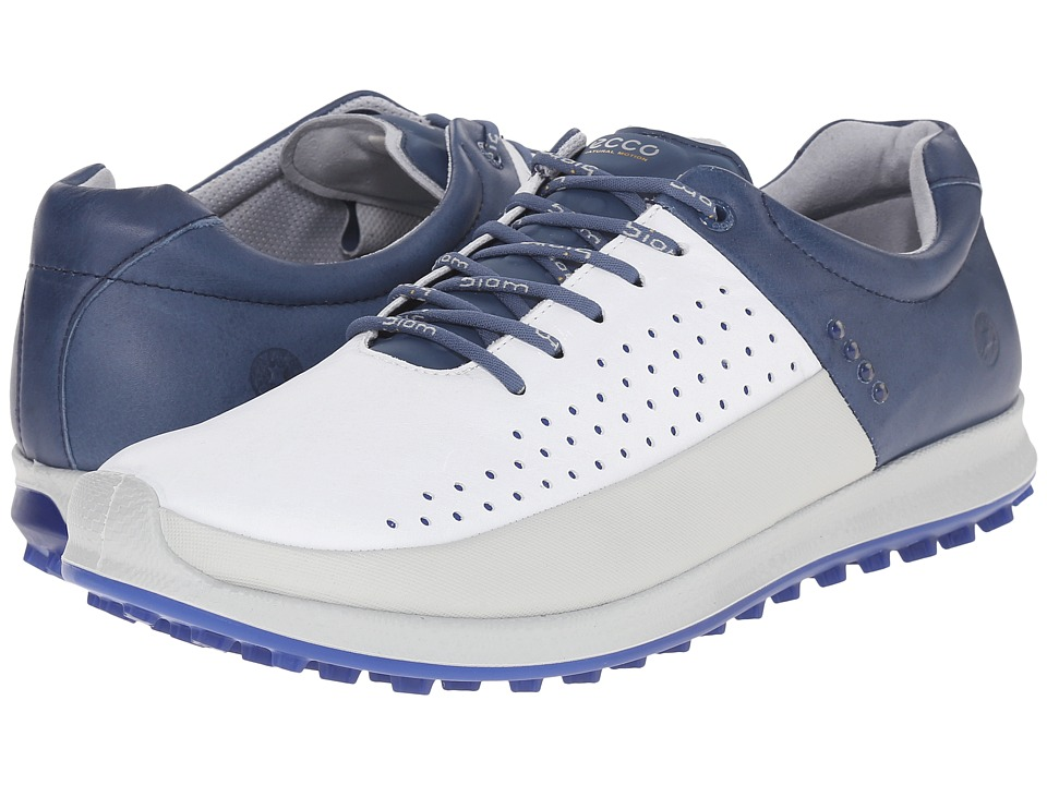 ECCO Golf - Biom Hybrid 2 HM (Concrete/White/Denim Blue) Men's Shoes
