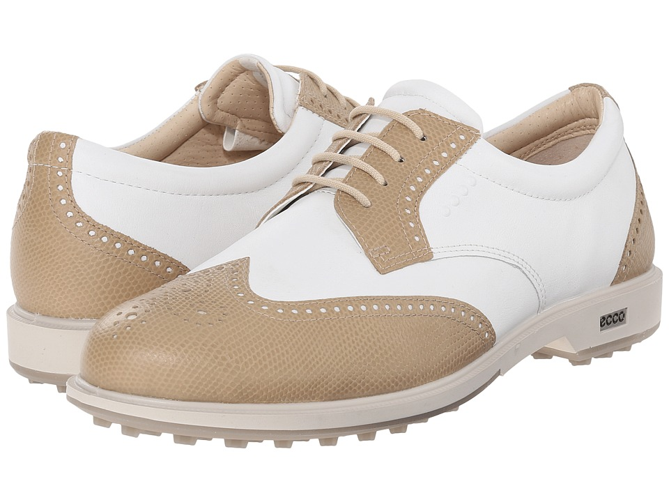 ECCO Golf - Classic Golf Hybrid (Sand/White) Women's Golf Shoes