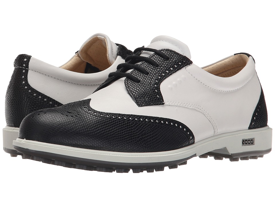 ECCO Golf - Classic Golf Hybrid (Black/White) Women's Golf Shoes