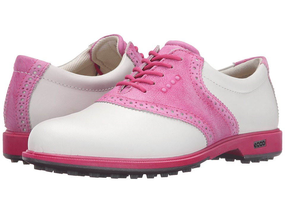 ECCO Golf - Classic Golf Hybrid II (White/Candy) Women's Golf Shoes