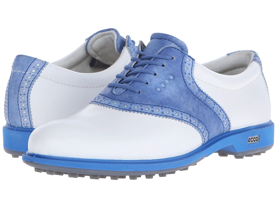 ECCO Golf - Classic Golf Hybrid II (White/Cobalt) Women's Golf Shoes
