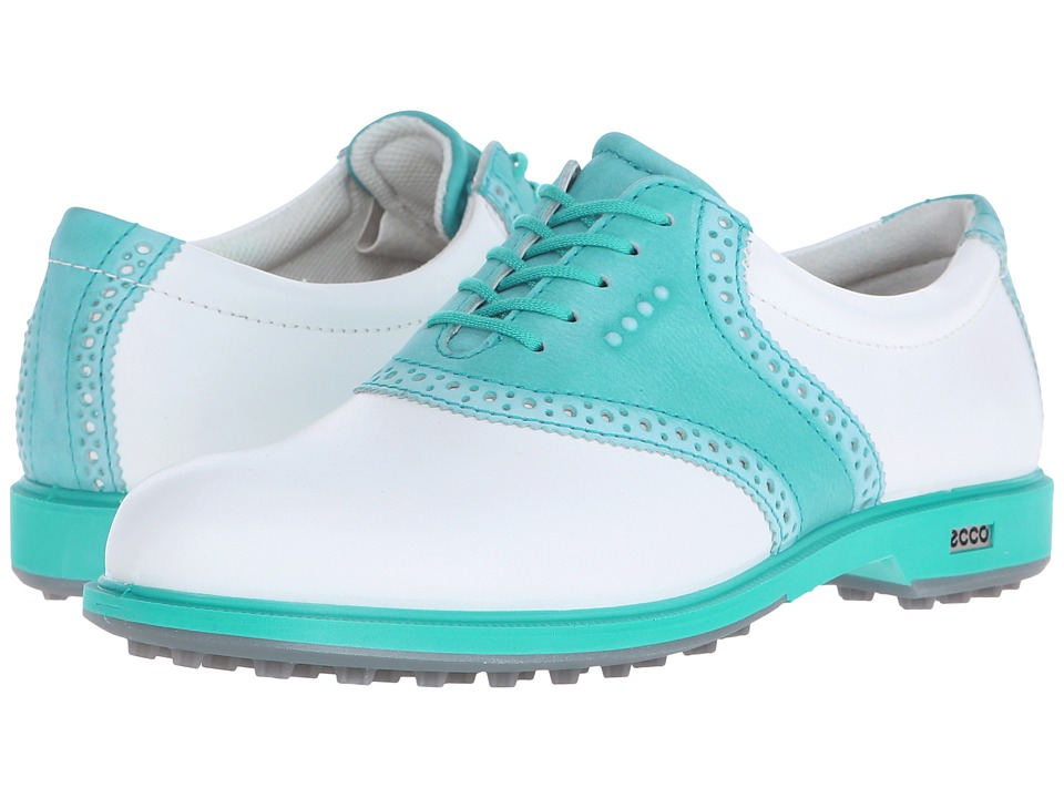 ECCO Golf - Classic Golf Hybrid II (White/Capri/Breeze) Women's Golf Shoes