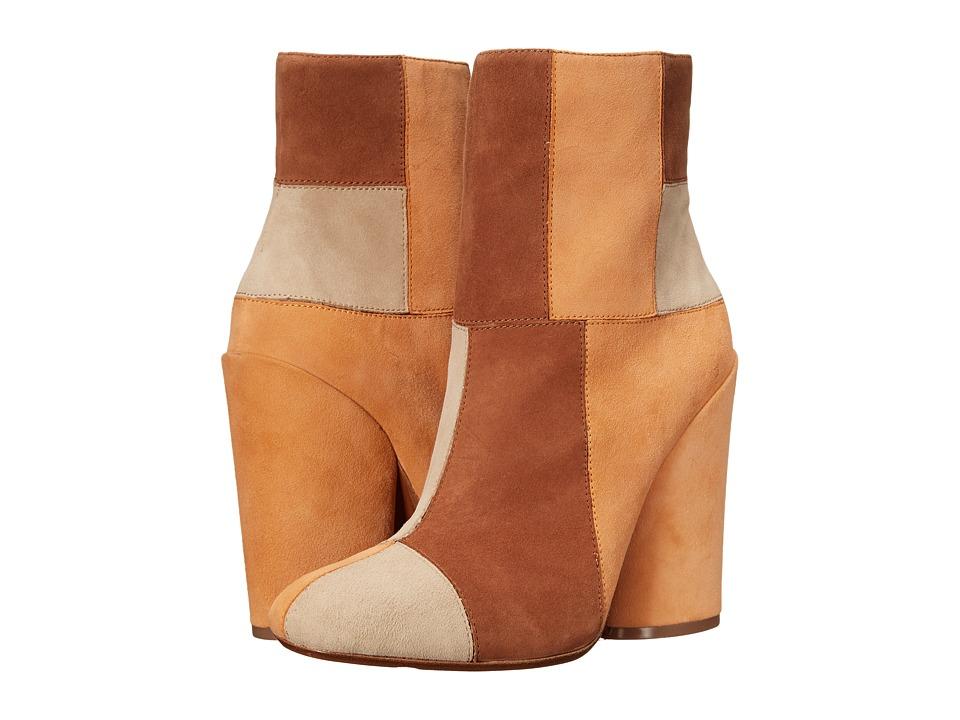 10 Crosby Derek Lam - Emery (Toffee/Apricot/Khaki Fine Suede) Women's Boots