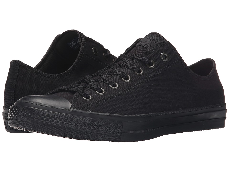 Converse - Chuck Taylor All Star II Premium Canvas - Mono Ox (Black/Black/Black) Classic Shoes