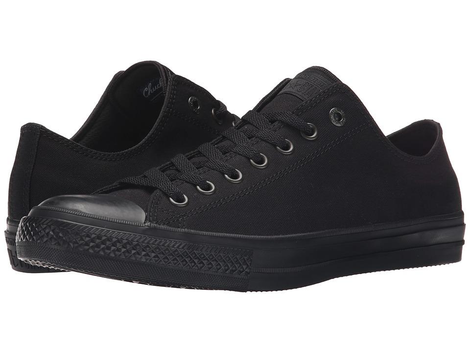 Converse - Chuck Taylor All Star II Premium Canvas - Mono Ox (Black/Black/Black) Classic Shoes