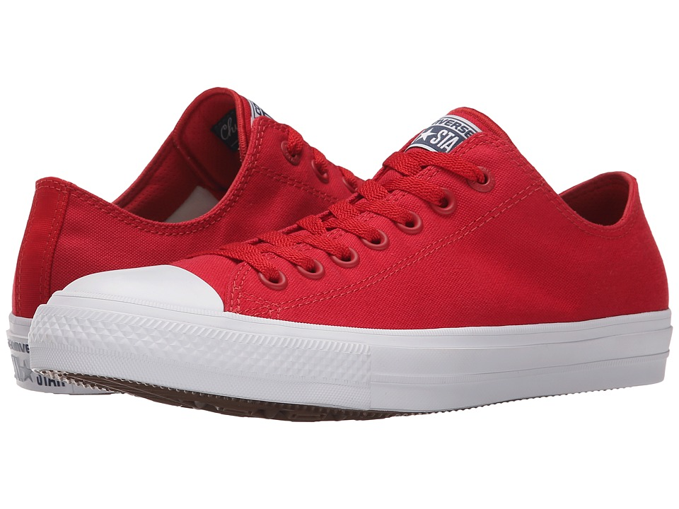 Converse - Chuck Taylor All Star II Ox (Salsa Red/White/Navy) Classic Shoes