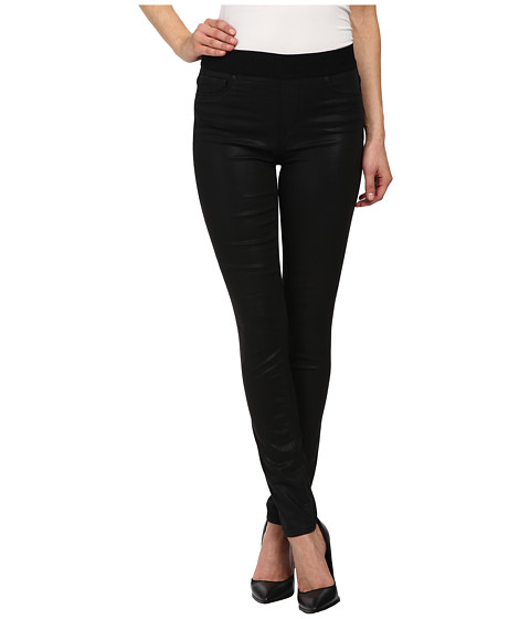 DKNY Jeans - Coated Denim Pull On Leggings in Black (Black) Women's Jeans