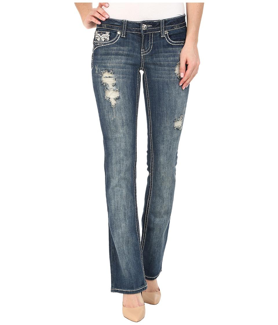 Image of Antique Rivet - Boot Leg Stretch Jeans in Stardust (Stardust) Women's Jeans