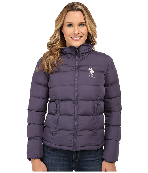 U.S. POLO ASSN. - Princess Seamed Puffer Jacket (Iridescent Grape) Women