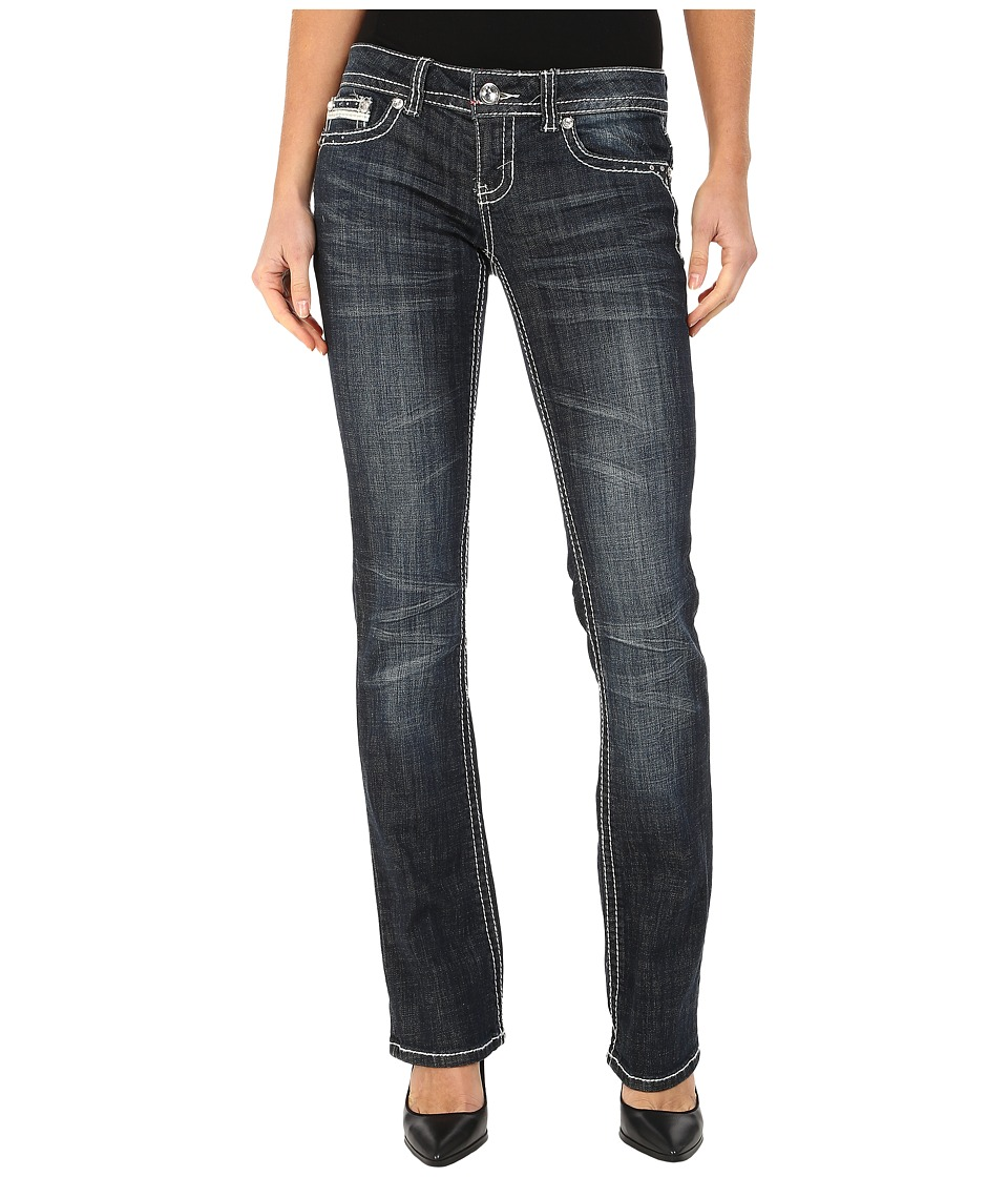 Image of Antique Rivet - Boot Leg Stretch Jeans in Martine Wash (Martine Wash) Women's Jeans