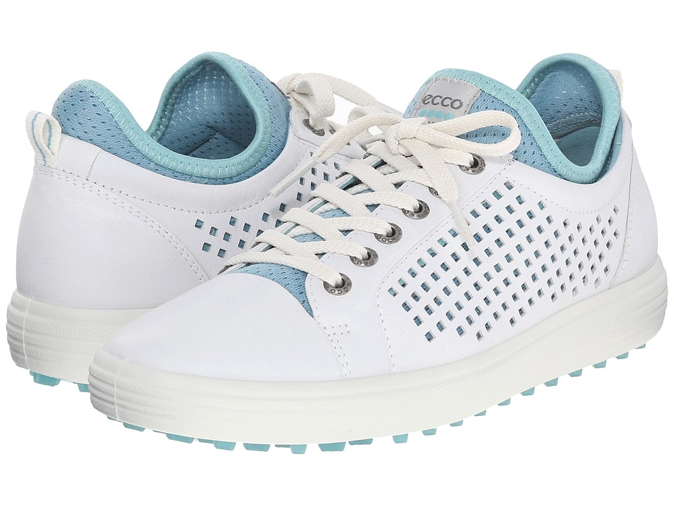 ECCO Golf - Summer Hybrid (White/Aquatic) Women's Golf Shoes