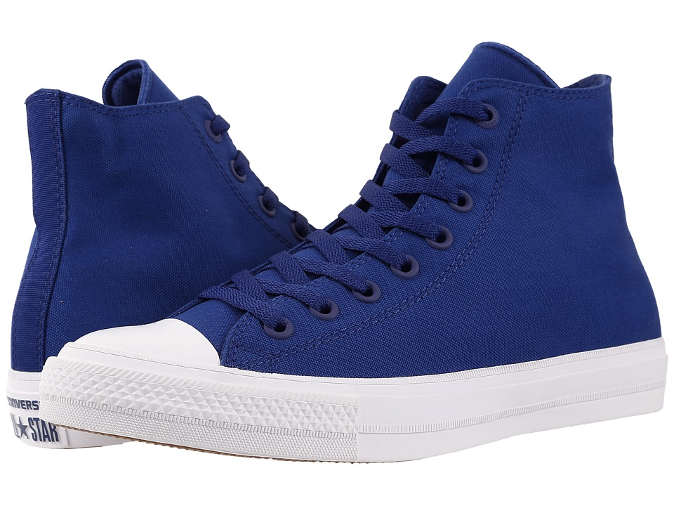 Converse Chuck Taylor(r) All Star II Hi (Sodalite Blue/White/Navy) Classic Shoes