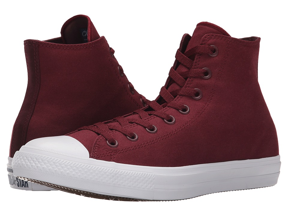 Converse Chuck Taylor All Star II Hi (Deep Bordeaux/White/Navy) Classic Shoes