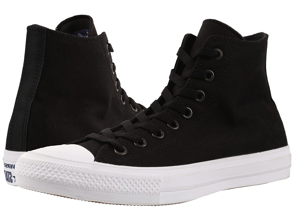 Converse Chuck Taylor(r) All Star II Hi (Black/White/Navy) Classic Shoes