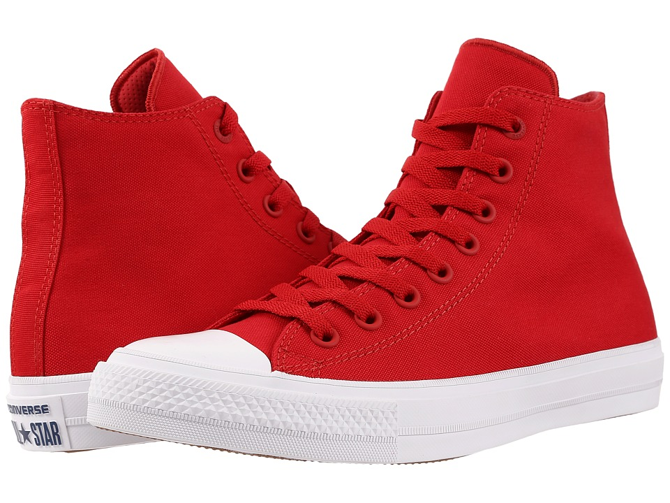 Converse - Chuck Taylor All Star II Hi (Salsa Red/White/Navy) Classic Shoes