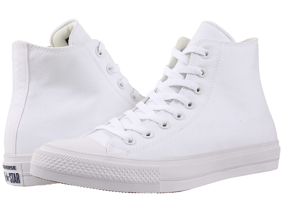 Converse Chuck Taylor All Star II Hi (White/White/Navy) Classic Shoes