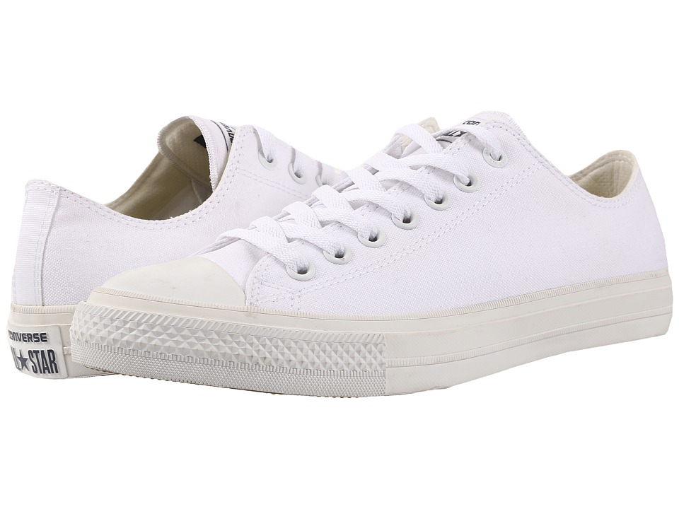 Converse - Chuck Taylor All Star II Ox (White/White/Navy) Classic Shoes