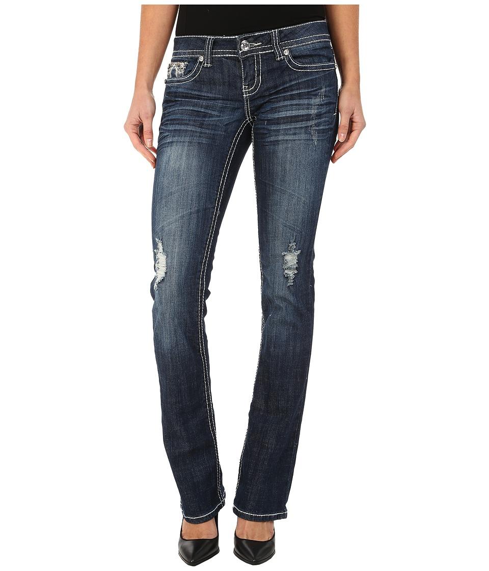 Antique Rivet - Boot Leg Stretch Jeans in Underground Wash (Underground Wash) Women's Jeans