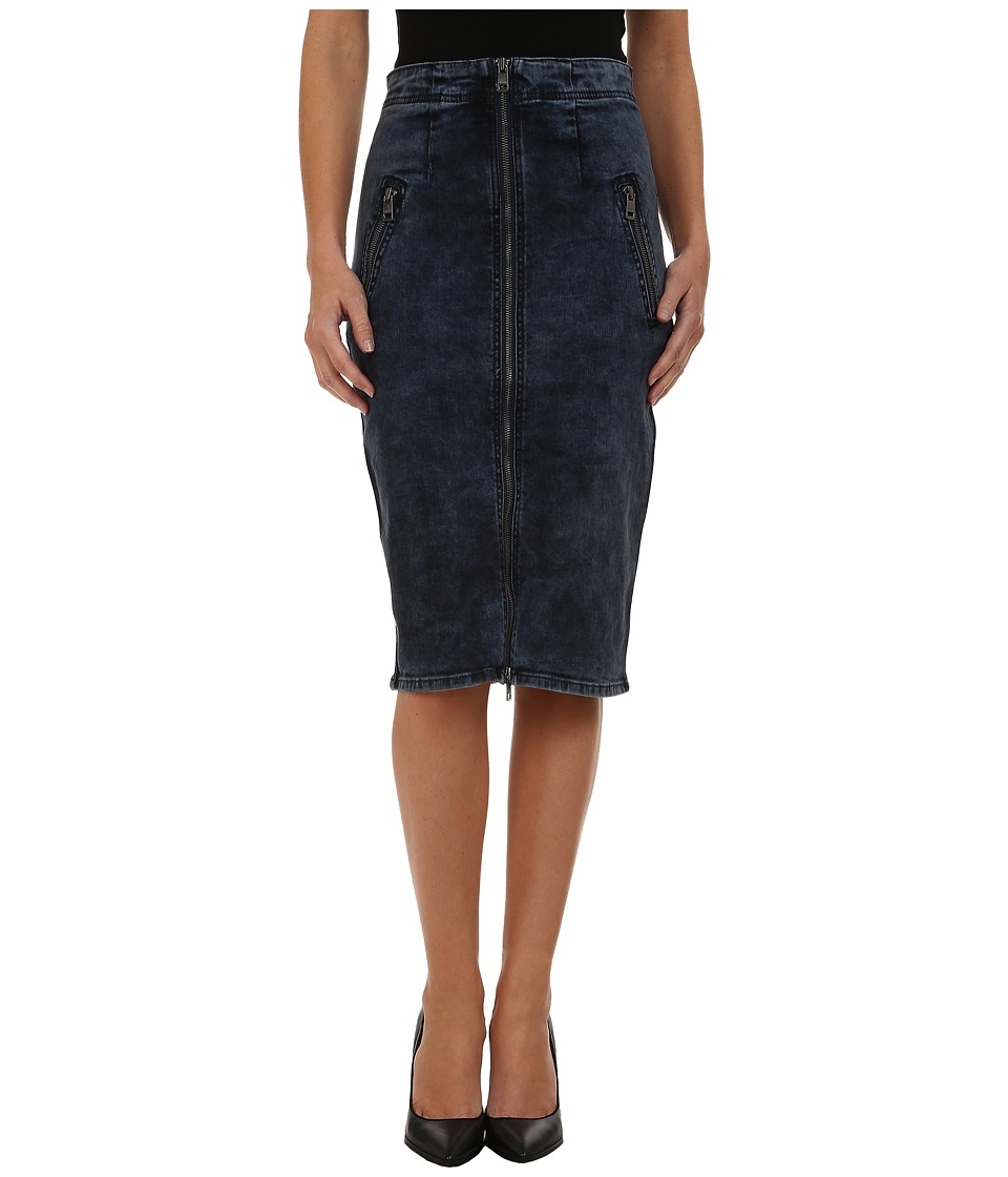 DKNY Jeans - High Rise Denim Skirt (Kurt Wash) Women's Skirt
