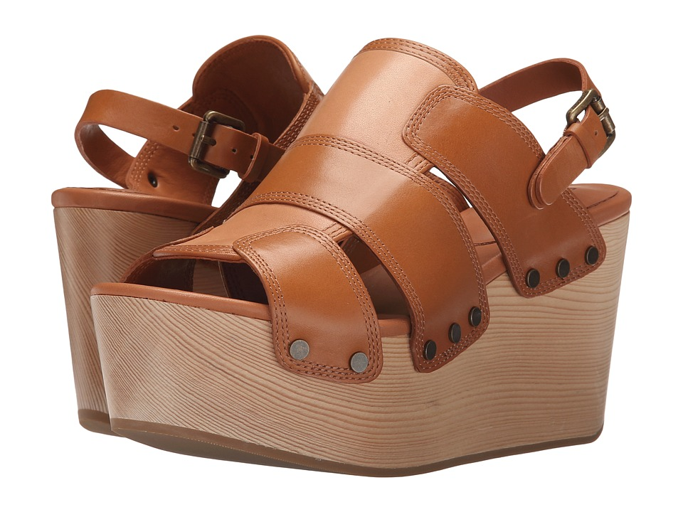 10 Crosby Derek Lam - Heath (Toffee Burnished Vacchetta) Women's Sandals
