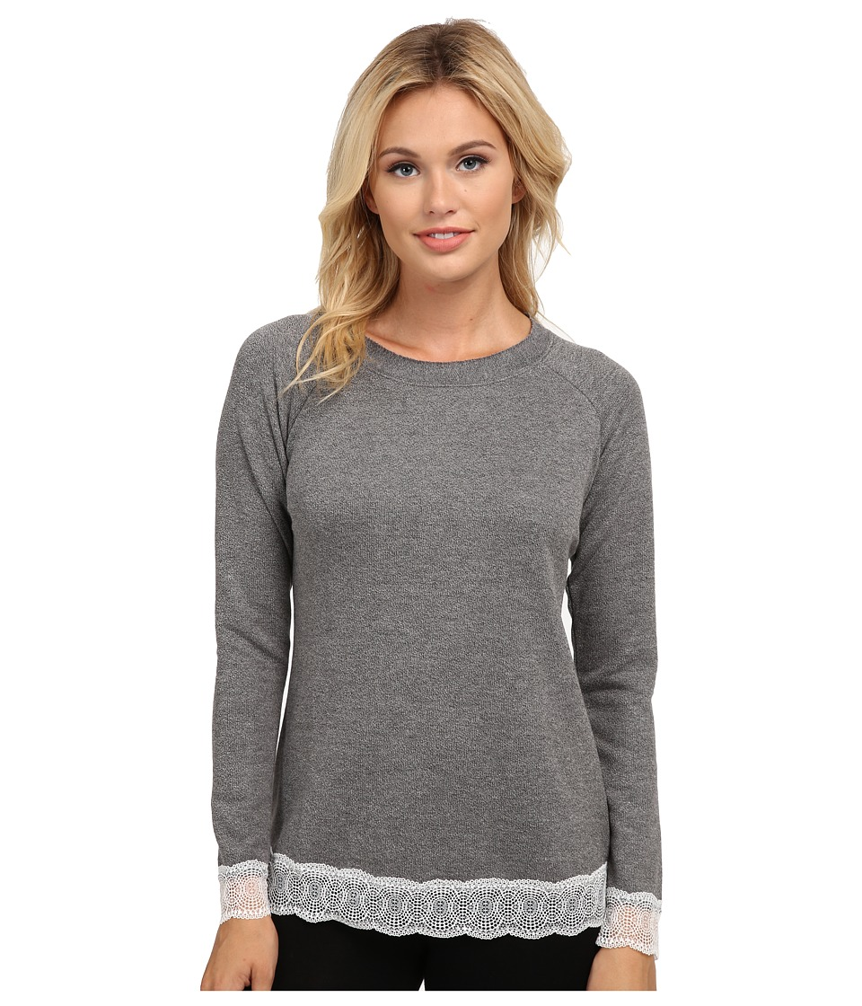 Cosabella - Cortina L/S Top (Heather Gray/Ivory) Women