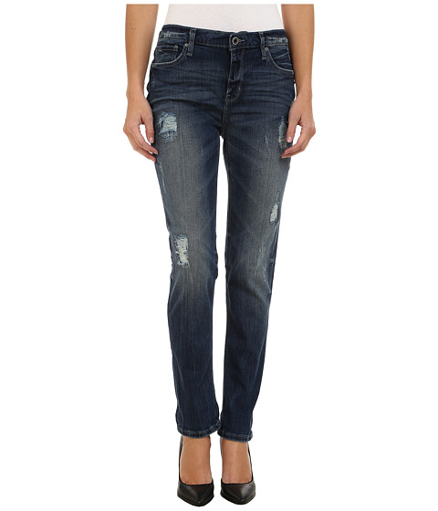DKNY Jeans - Rip and Repair Bowery Boyfriend Jeans in Oasis Wash (Oasis Wash) Women