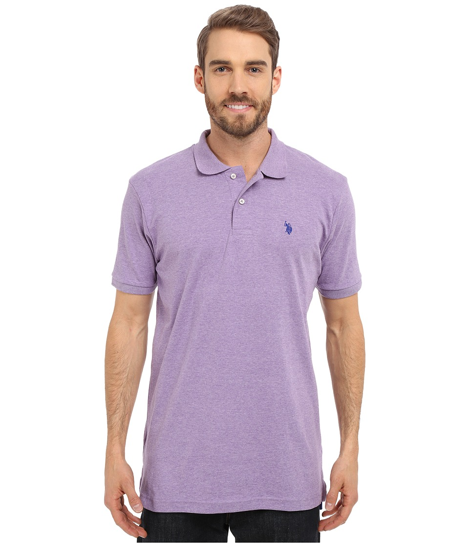 U.S. POLO ASSN. - Solid Interlock Polo (Tie Purple Heather) Men