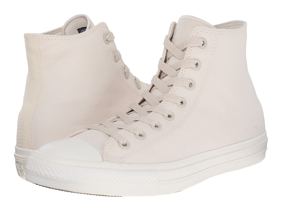 Converse Chuck Taylor(r) All Star II Premium Canvas Mono Hi (Parchment/Navy/White) Classic Shoes