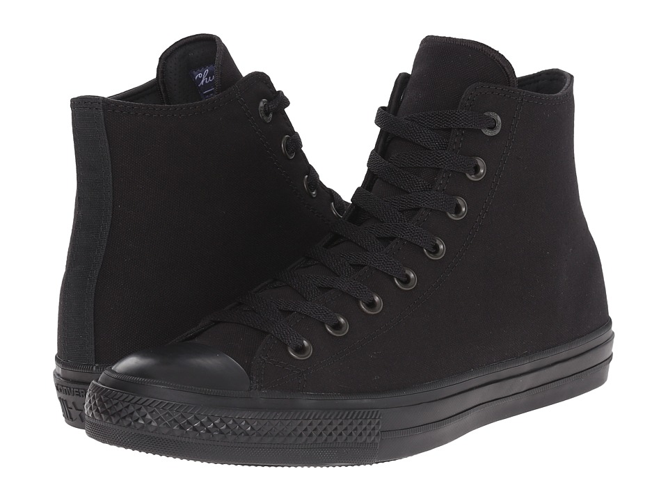 Converse Chuck Taylor All Star II Premium Canvas Mono Hi (Black/Black/Black) Classic Shoes