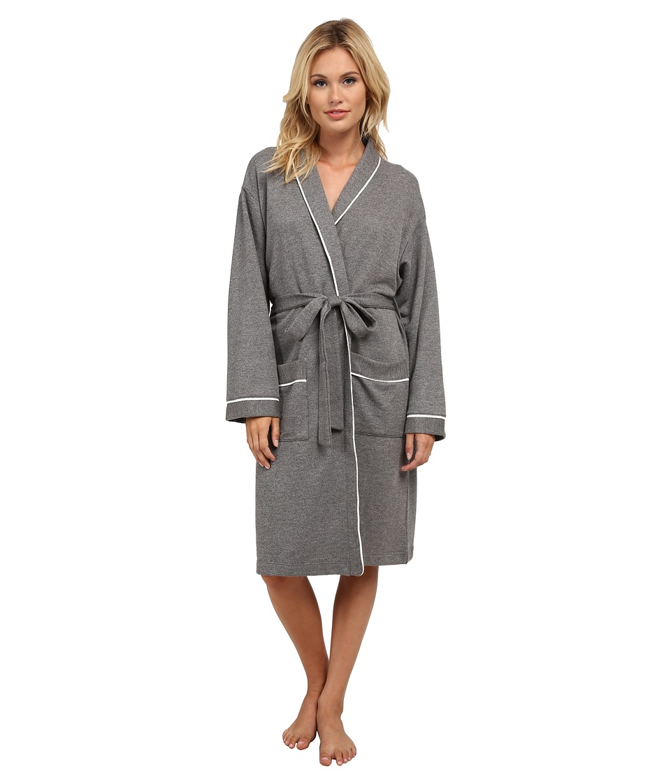 Cosabella - Cortina Hotel Robe (Heather Gray/Ivory) Women's Robe plus size,  plus size fashion plus size appare