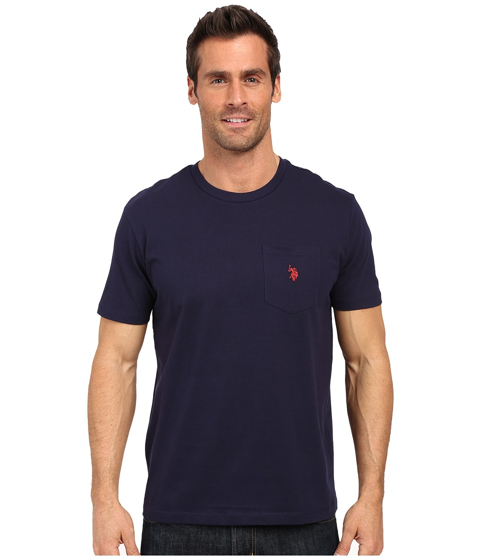 U.S. POLO ASSN. - Solid Crew Neck Pocket T-Shirt (Classic Navy) Men's Short Sleeve Pullover