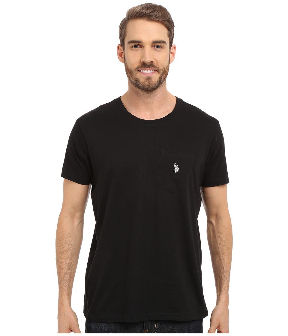 U.S. POLO ASSN. - Solid Crew Neck Pocket T-Shirt (Black) Men