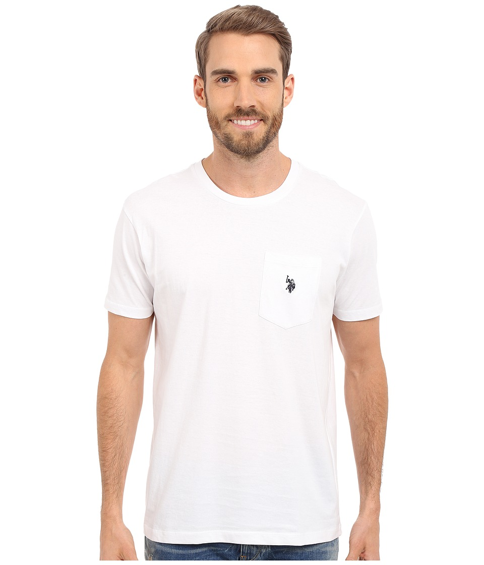 U.S. POLO ASSN. - Solid Crew Neck Pocket T-Shirt (White) Men