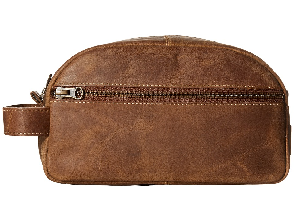 Timberland - Crazy Horse Genuine Leather Travel Kit (Brown) Travel Pouch