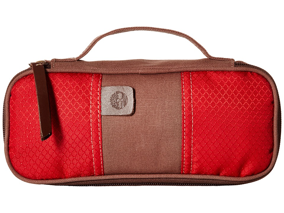 Timberland - Canvas/Nylon Express (Red) Travel Pouch